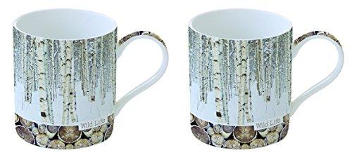 Jd Diffusion 283wlfb Cofanetto con 2Tazze Ceramica Multicolore 18X 11,2X 8,6cm