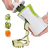 Acale Spiral Slicer Hand Held Vegetable Spiralizer, Vegetable Cutter Zucchini Courgette Spaghetti Maker
