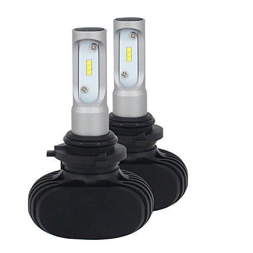CICMOD 72W LED Kit de Conversion Headlight LED Projecteur Voiture 4000LM 6500K CSP Phare Lampes Blanc Ampoules, 9006W (1 Paire)