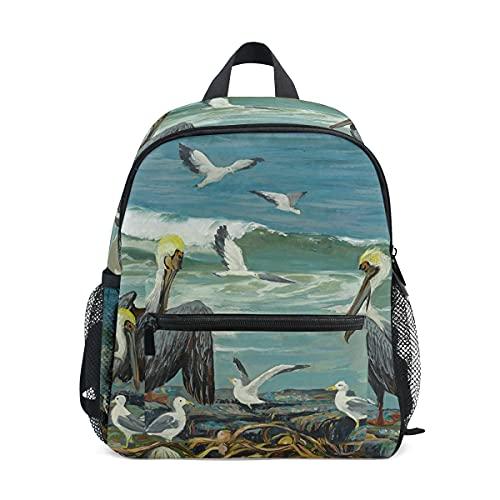 Mini mochila escolar 1 bolsa de colegio para niños niñas arte colorido Pelican