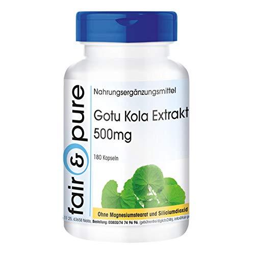 Extracto de Gotu Kola, 6 veces concentrado, 180 cápsulas y conservantes
