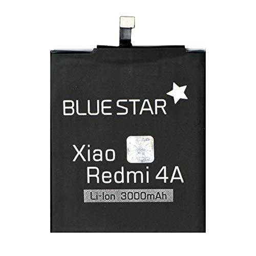 Blue Star Premium - Batteria da 3000 mAh Li-Ion de Capacità Carica Veloce 2.0 Compatibile Con il Xiaomi Redmi 4A
