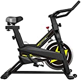 Zhihao Stationäre Bike - Folding Indoor Heimtrainer mit Arm-Widerstand-Bänder und Herz-Monitor - Perfect Home Trainingsmaschine for Cardio