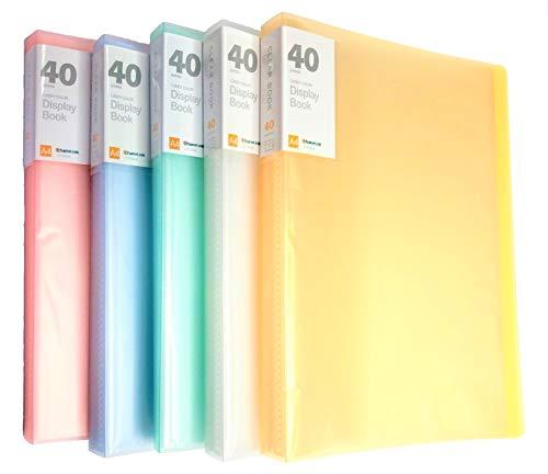 KAHEIGN 5 Piezas A4 PP Display Book, 40 Bolsillos Transparentes Libro de Presentación de Polipropileno Sólido Carpeta de Proyectos Carpeta de Presentación Cubierta Translúcida (5 Colores) ✅