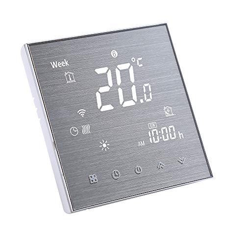 Decdeal Raumthermostat Smart Thermostat Heizung Digital LCD Display Touch Taste Sprachsteuerung Programmierbar 0.5°C Genauigkeit 5A Wasserheizung/Boiler, 16A Elektrische Heizung, WiFi Optional)