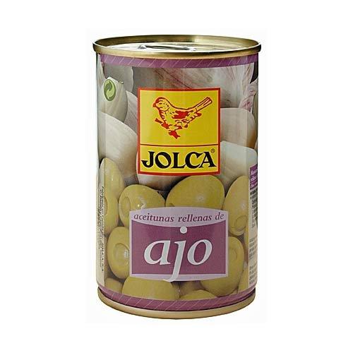 Aceitunas Ajo - Spanische grüne Oliven mit Knoblauchpaste gefüllt