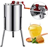 Happybuy Manual Honey Extractor Stainless Steel Honeycomb Spinner Crank Beekeeping Equipment 3 Frame