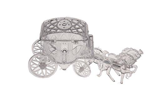 12 Cinderella Coach Wedding Carriage Favor Plastic - Clear