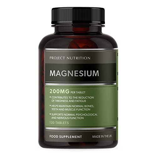 Magnesium Citrate 1400mg - Provides 400mg Elemental Magnesium per Serving - 120 High Strength Magnesium Tablets - 60 Day Supply - High Potency Supplement - Made in The UK by Project Nutrition