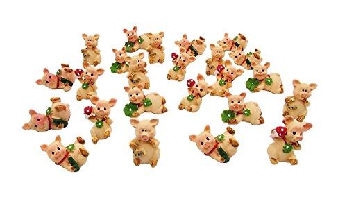 48 Glücksschweine Mini Schweinchen lustige Glücksbringer Tischdeko Gastgeschenk