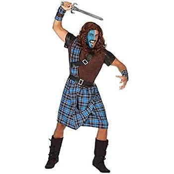 Disfraz de guerrera escocesa Braveheart: Amazon.es: Juguetes y juegos
