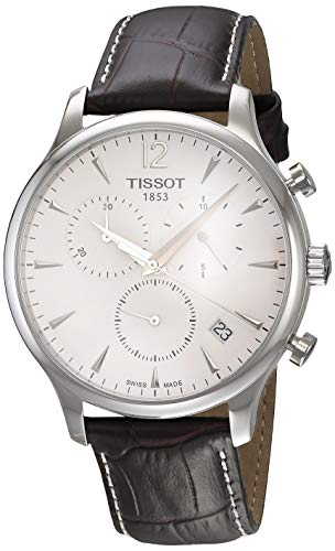 Tissot Herren Chronograph Quarz Uhr mit Leder Armband T0636171603700