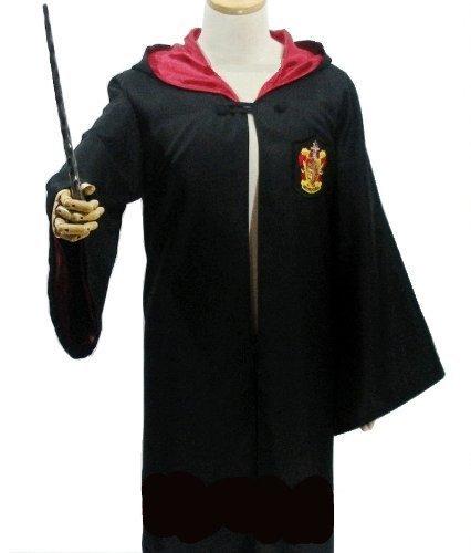 ハリーポッター グリフィンドール (ローブ + 眼鏡 + ネクタイ + 魔法の杖) 4点フルセット コスプレ衣装 男...