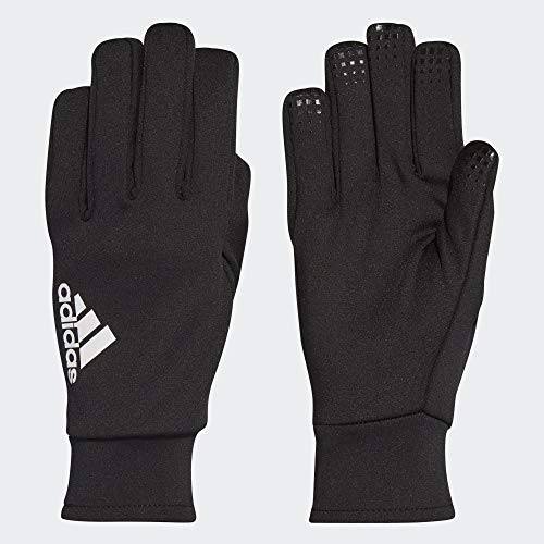 adidas Fieldplayer CP Soccer Gloves, Black/White, 7