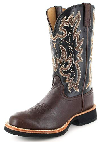 Twisted X Boots Damen Cowboy Stiefel 1782 Horseman Westernreitstiefel Lederstiefel Schwarz 42 EU