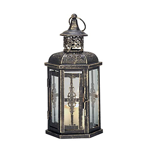 JHY DESIGN Linternas Decorativas 25 cm de Alto Estilo Vintage Linterna Colgante faroles de...