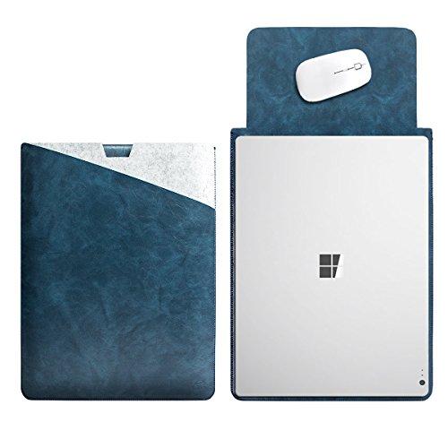 WALNEW 13.5 Microsoft Surface Book 1/2 13.5 Zoll Schutzhülle, Hülle, Case, Cover, mit Zwei-Taschen-Design mit Geschütztem Inneren & Externem Mousepad