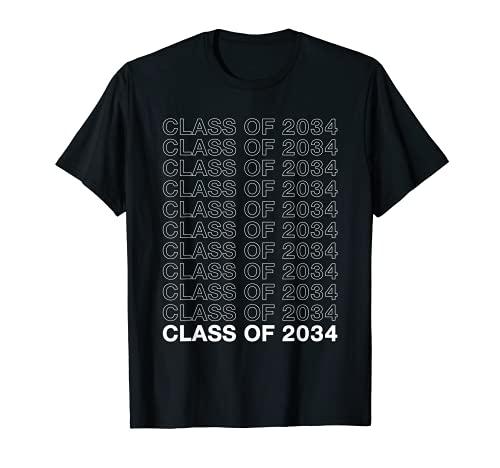 class of 2034 grow with me Kids Teacher Student Camiseta