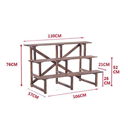 GRY Salle de séjour en bois multicouche de plancher en bois d'étagère de fleur de conservation de plancher d'Assemblée,75 * 60 * 76cm