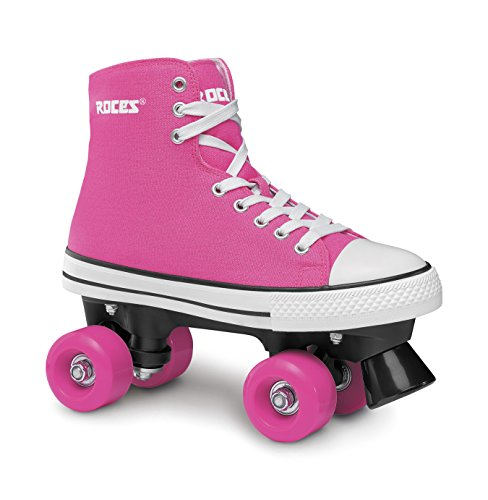 Roces Kinder Chuck Classic Roller Rollerskates/Rollschuhe Street, deep pink, 39