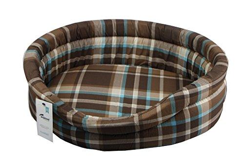 Greyhound Hundebett Classic oval - Kanada braun (50)