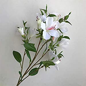 Silk Flower Arrangements Artificial Decorative Flowers Simulation of azalea plastic fake flower big 5 fork Yingshan crocus engineering set shopping mall decoration stage props 73cm Flower Products include:Artificial Flowers.