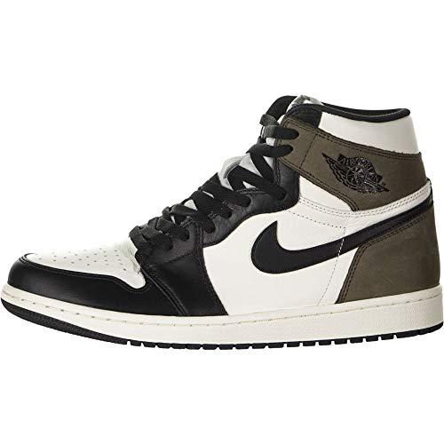 Scarpe sportive, Modello Air Jordan 1 Retro High OG, Colore: Marrone, Codice dell'Articolo: 555088-105, (Velo Moka scuro nero), 43 EU