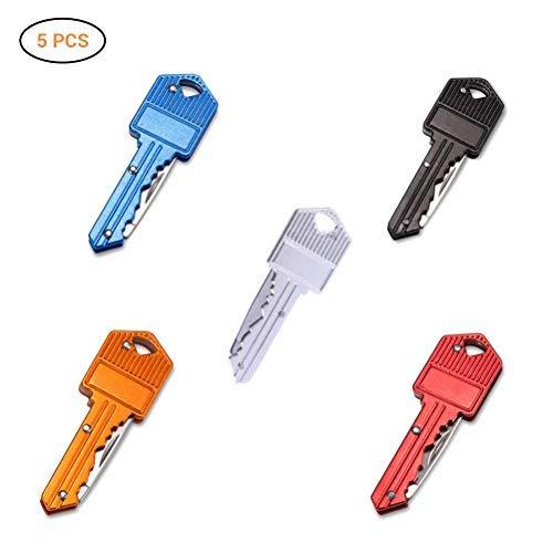 Hihey 5 Stück Gadgets Schlüsselmesser | Klappmesser | Key Knife | Schlüsselanhänger | Schlüsselbund Messer für Outdoor