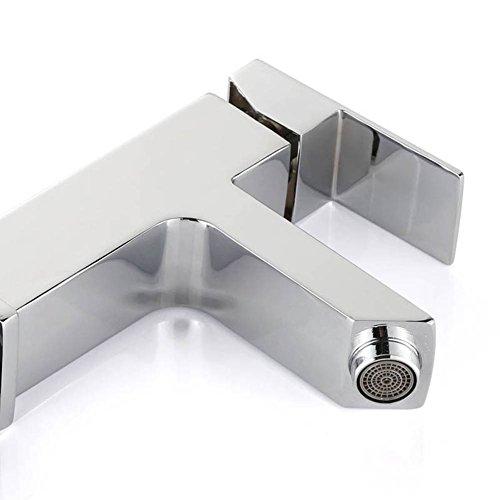 Homelody Waschtischarmatur Badarmatur Mischbatterie Waschbecken Wasserhahn Waschtisch armatur bad Waschbeckenamatur Einhebelmischer f.badzimmer - 4