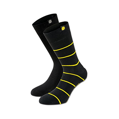 BVB Herren Socken Set Socken Set, schwarz/gelb, 43 - 46, 2466332