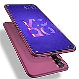 MSK Hülle für Huawei Nova 5T / Honor 20 Hülle,Ultra Dünn Matt TPU Silikon Schutzhülle Tasche Schutz Weiche Shockproof Bumper Cover Hülle Handyhülle für Huawei Nova 5T / Honor 20 - Weinrot