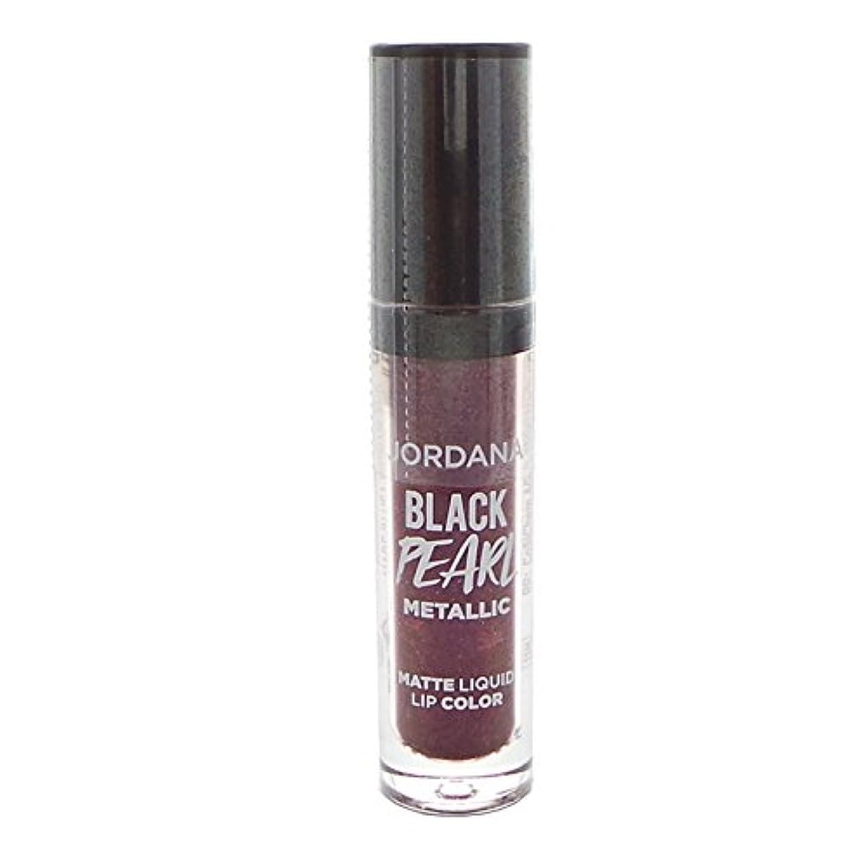 ながらメイド宣教師(6 Pack) JORDANA Black Limited Edition Pearl Metallic Matte Liquid Lip Color - Hocus Pocus Plum (並行輸入品)
