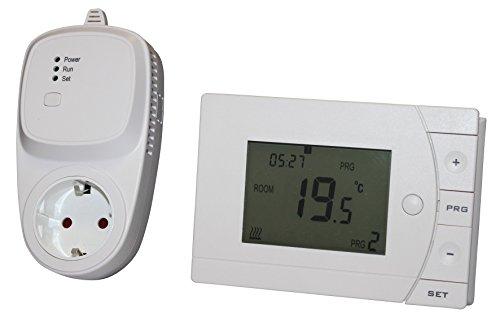 INROT verwarmingssysteem 70085 INROT draadloze stekker thermostaat set, programmeerbaar (draadloze thermostaat met radio-ontvanger)