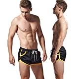 AIMPACT Herren 80s Sport Hose Kurz Shorts Mit Gummizug Strand Sport Hose Kurz Sommer Sporthose...