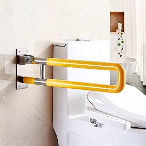 LIUYULONG Badegriff Griff Edelstahl-Wandhalterung Haltegriff Badezimmer Assistance Bars Handicap WC Unterstützung Geräte Innenduschtuch Bar Hilfswerkzeuge (Color : White, Size : 60cm)