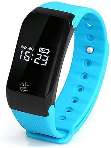 Lemumu X7 4.0 bleutooth Smartwatch Sports Tracker de fréquence cardiaque Moniteur de pression Température bleu,Rappel Appel