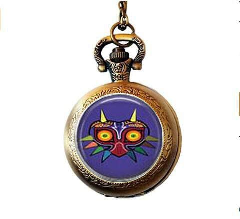 Majora's Mask Pocket Watch Necklace