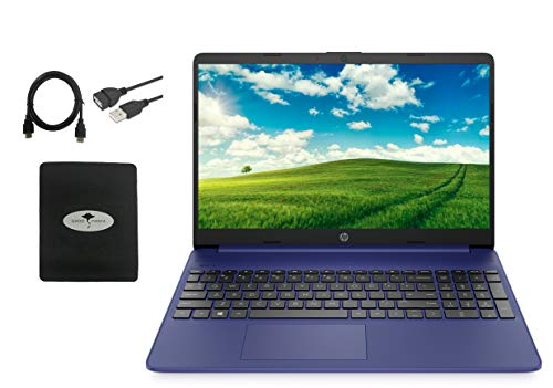 2021 Newest HP 15.6 HD Laptop for Business and Student, WLED-Backlit Display, AMD Athlon Gold 3150U (Up to 3.3Ghz), 8GB RAM, 512GB PCIe SSD, HDMI, USB-A&C, w/GM Accessories (Indigo Blue)