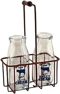 vintage metal milk crates