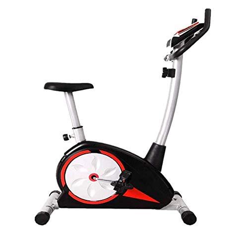 La bici de ciclo indoor Accionamiento de correa cubierta magnética Bicicleta estática, bicicleta estacionaria del ciclo - con pantalla LCD y la prueba de frecuencia cardíaca - Inicio de Cardio entrena