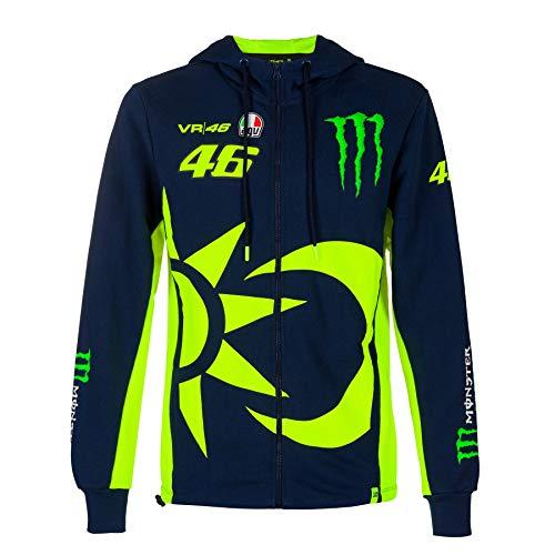 Valentino Rossi Hoodie VR46 MotoGP Monster Sponsor Sonne & Mond Offiziell 2020