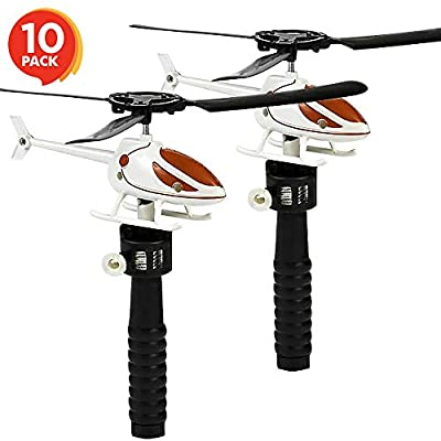 ArtCreativity Flying Helicopter Set for Kids - 10 Pack - Fun Fly Toys for Indoors or Outdoors - Great Birthday Party Favors - Goodie Bag Fillers - Gift Idea for Boys, Girls, Toddlers from ArtCreativity