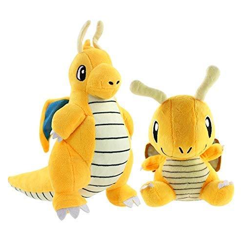 Dragón de peluche muñeca de juguete 2 unids/lote 18 cm 25 cm Dragonite felpa juguete Q versión dragón anime mascotas peluche suave muñecas chuangze