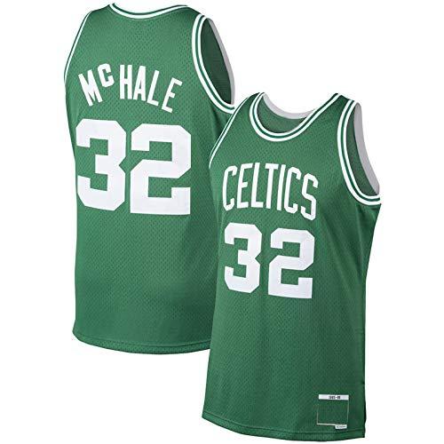 HAOBIN Camiseta de baloncesto para hombre # 32 KevinMcHale de malla cómoda uniforme de baloncesto BostonCeltics - Verde