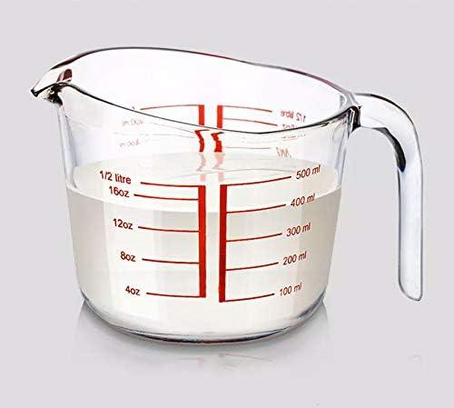 Incrizma Glassware - Borosilicate Tempered Glass Measuring Cup/Jug - 1000 ml