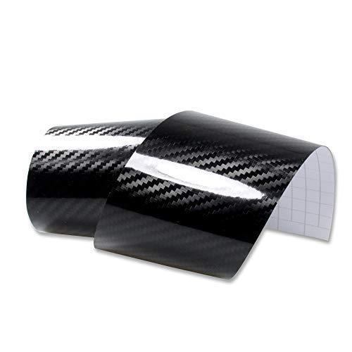 Rapid Teck® 13,14€/m² Carbon-Folie Serie 560z 5D Carbon schwarz Glanz/Hochglanz Autofolie selbstklebend Luftkanal