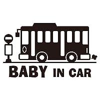imoninn BABY in car ステッカー 【パッケージ版】 No.61 バス (黒色)