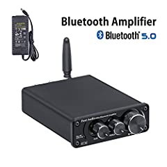 &#127822[UPDATE] 2020 New Model Bluetooth 5.0 wireless streaming range up to 39ft(12m), with bass and treble control, Simple compact design but practical and powerful, Adopt TI TPA3116D2 chip to get clear and clarity sound, no audible noise, dead sil...