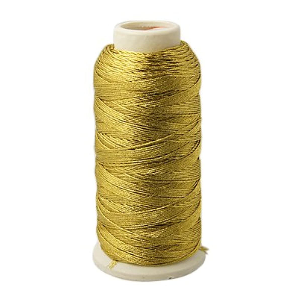 PEPPERLONELY Brand Non-Stretch Gold Metallic Cord 1mm 180M/Roll (apprx. 197 Yard)