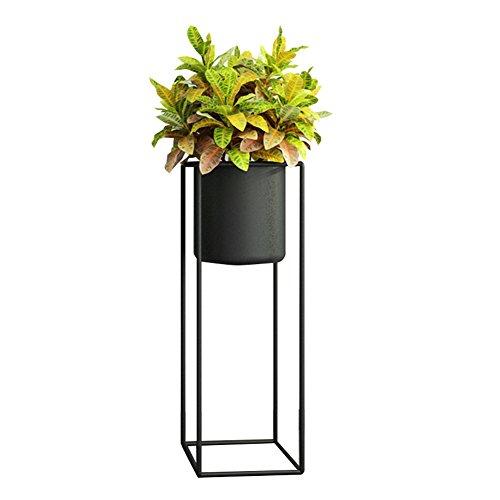 XZG Stand de plantes d'intérieur, créatif fer Art Flower Pot cadre noir plancher lieu salon chambre Bureau d'étude imperméable à l'eau antirouille Étagère de pot de plante (taille : 20 * 20 * 60CM)